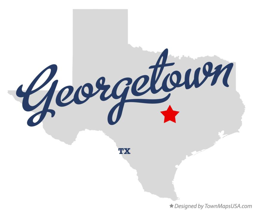 Map of Georgetown Texas TX