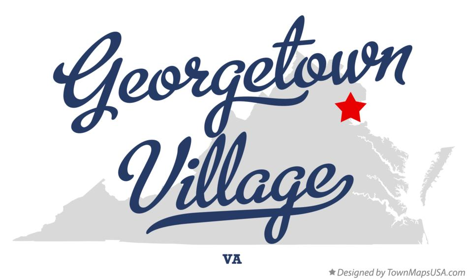 Map of Georgetown Village Virginia VA