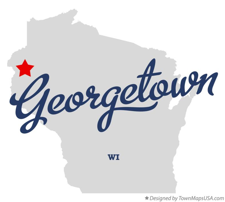 Map of Georgetown Wisconsin WI