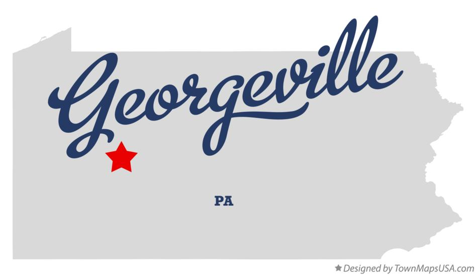 Map of Georgeville Pennsylvania PA