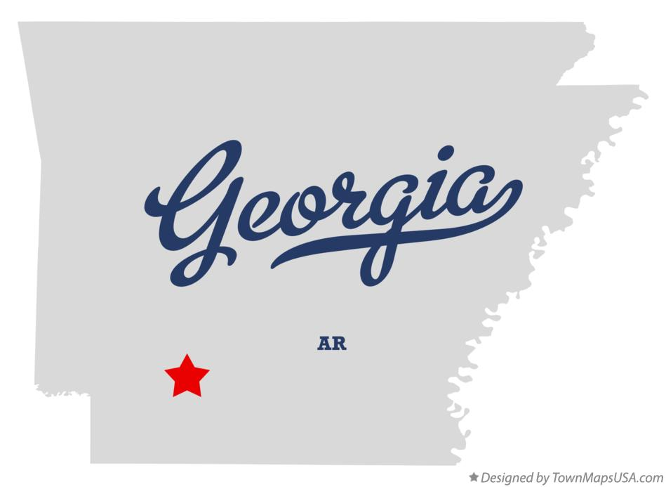 Map of Georgia Arkansas AR