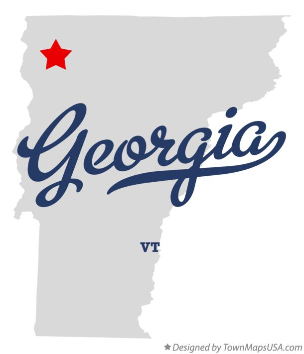 Map Of Georgia Vermont.Map Of Georgia Vt Vermont