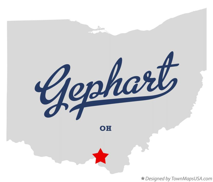 Map of Gephart Ohio OH