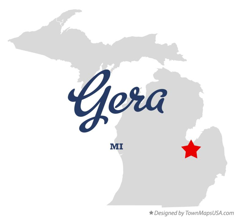 Map of Gera Michigan MI