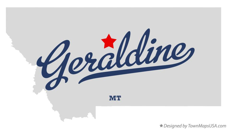 Map of Geraldine Montana MT