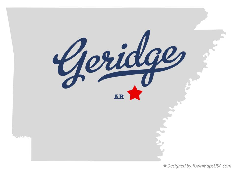 Map of Geridge Arkansas AR