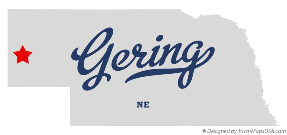 Map of Gering Nebraska NE