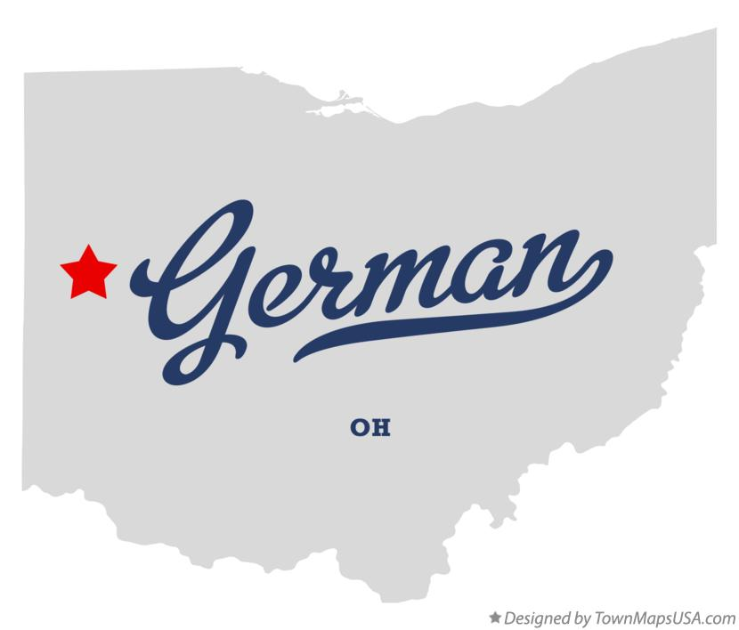 Map of German Ohio OH