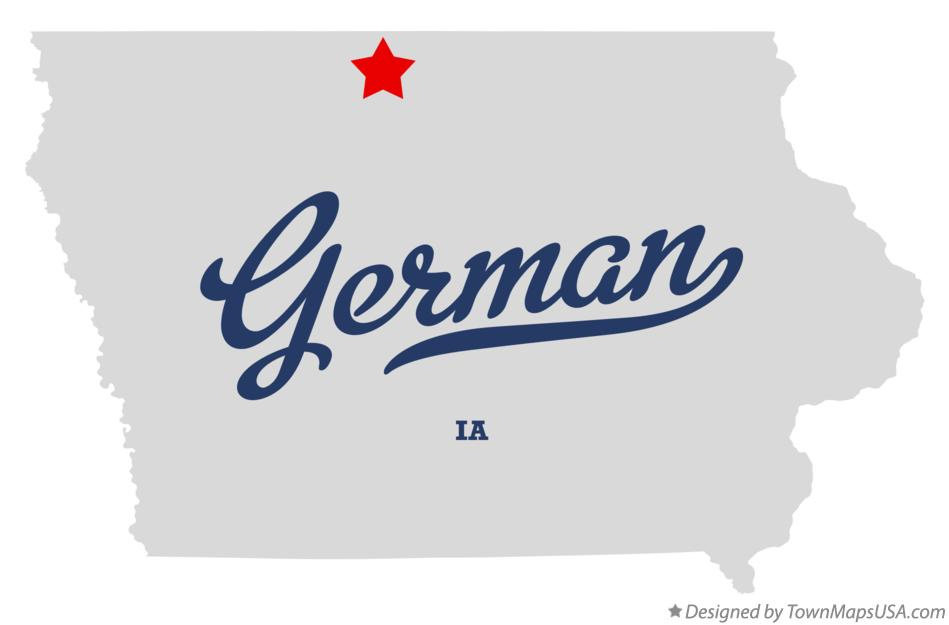 Map of German Iowa IA