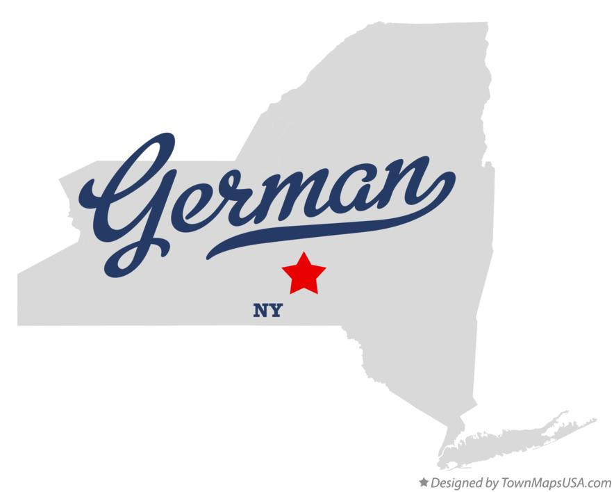 Map of German New York NY