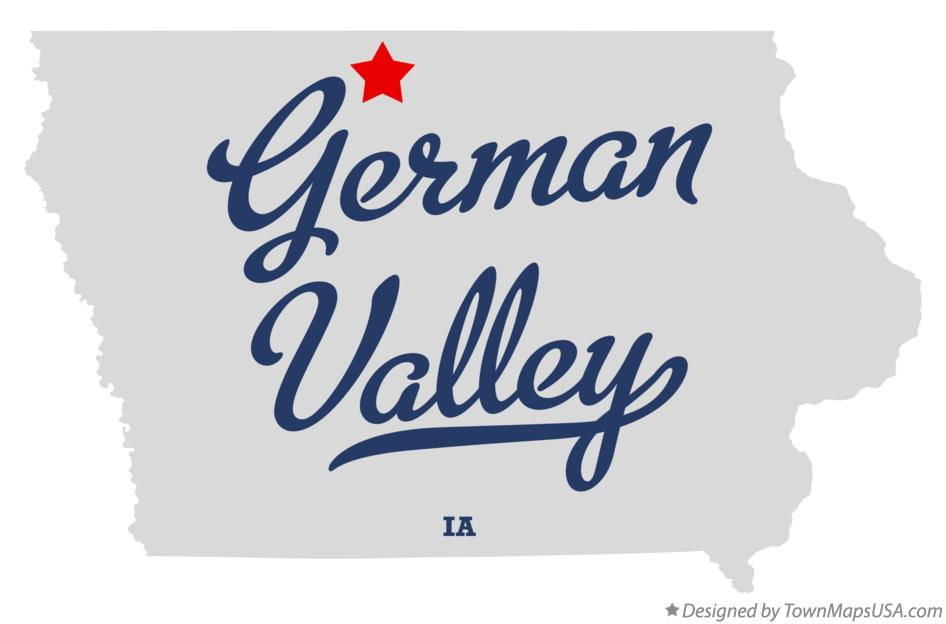 Map of German Valley Iowa IA