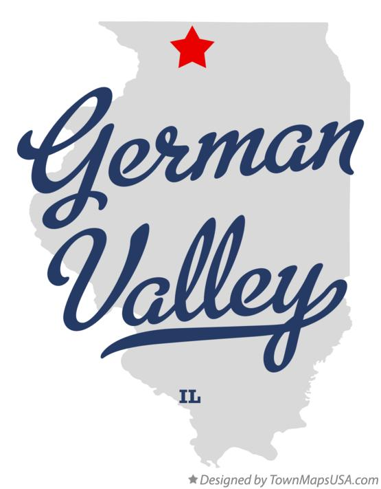 Map of German Valley Illinois IL