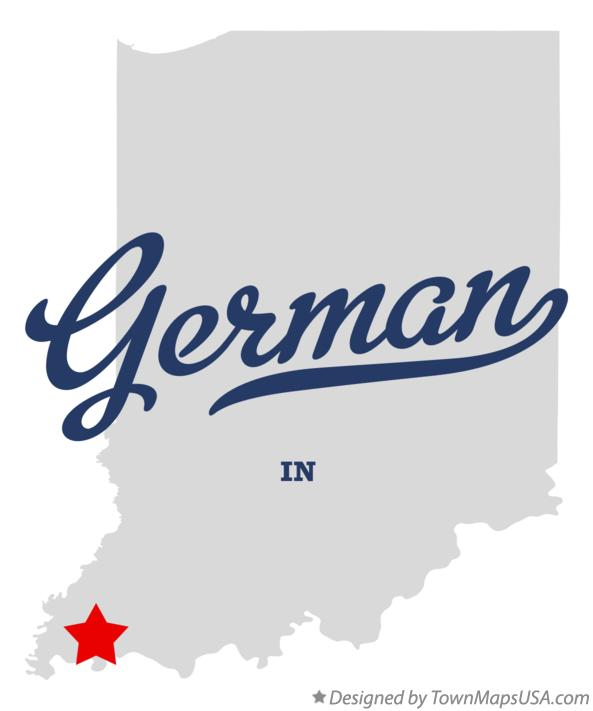 Map of German Indiana IN