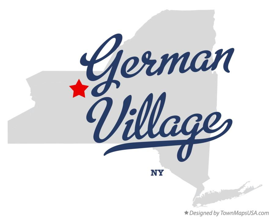 Map of German Village New York NY