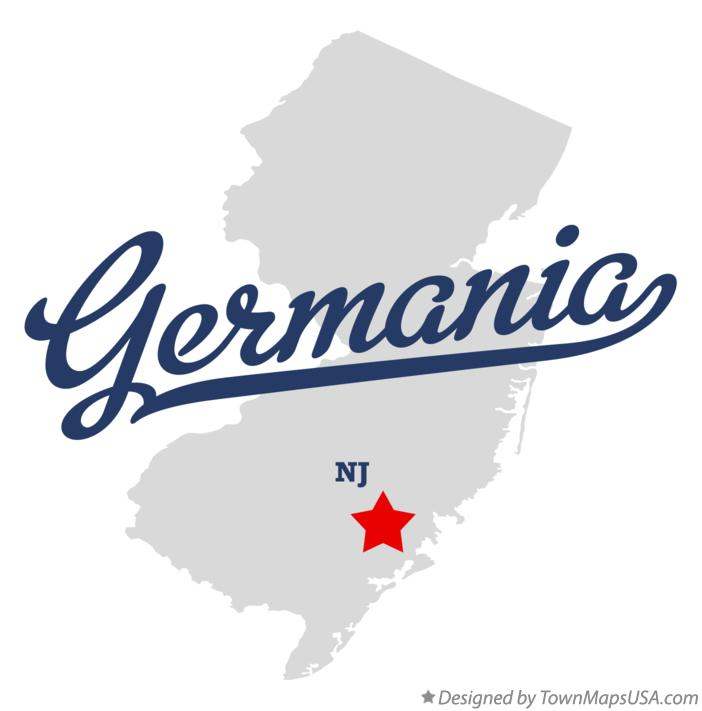 Map of Germania New Jersey NJ