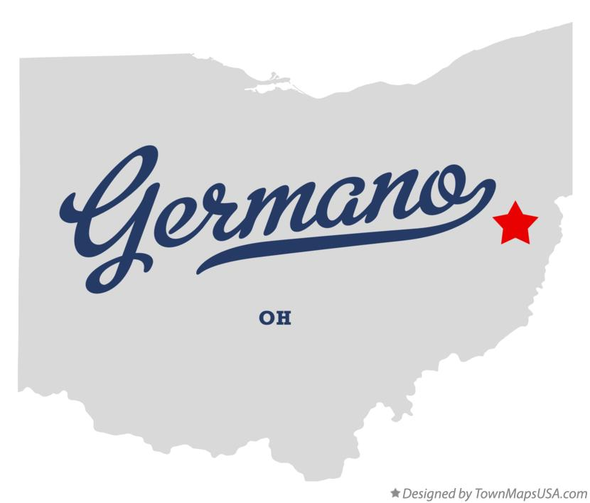 Map of Germano Ohio OH
