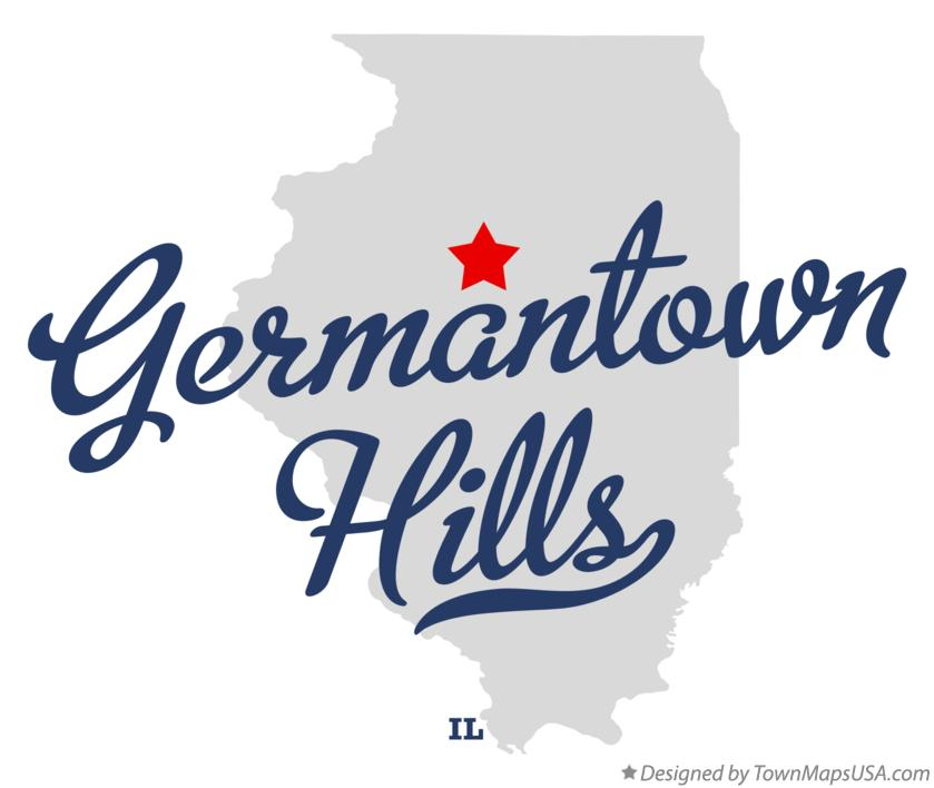Map of Germantown Hills Illinois IL