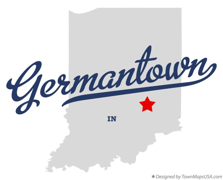 Map of Germantown Indiana IN