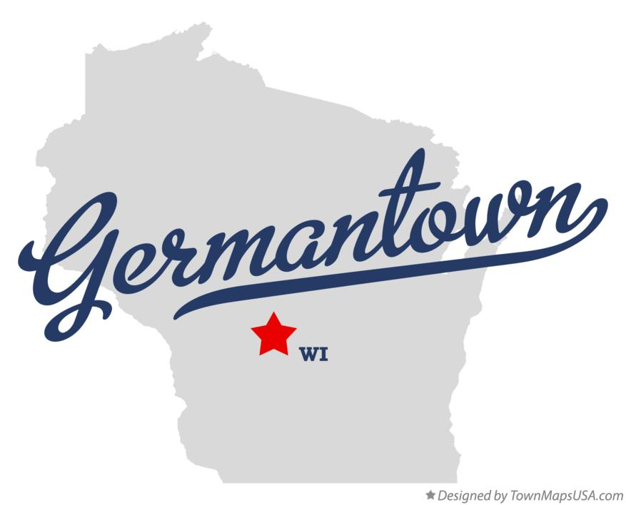 Map of Germantown Wisconsin WI