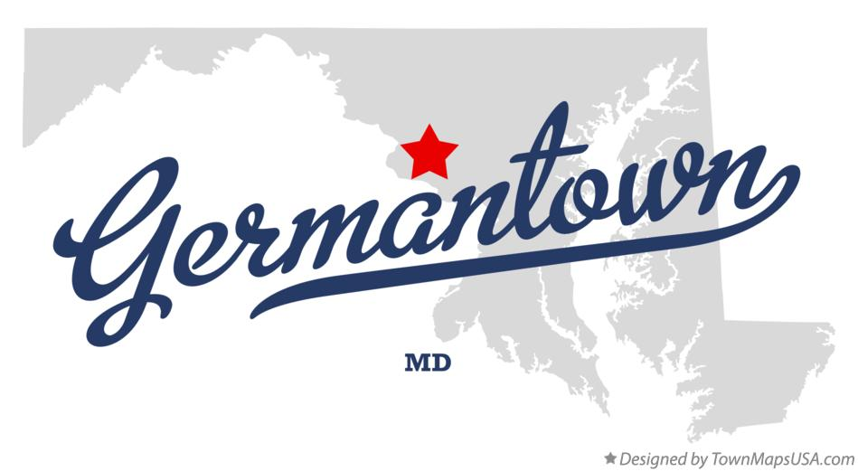 Map of Germantown Maryland MD