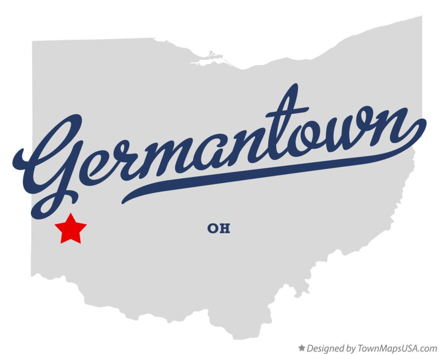 Map of Germantown Ohio OH