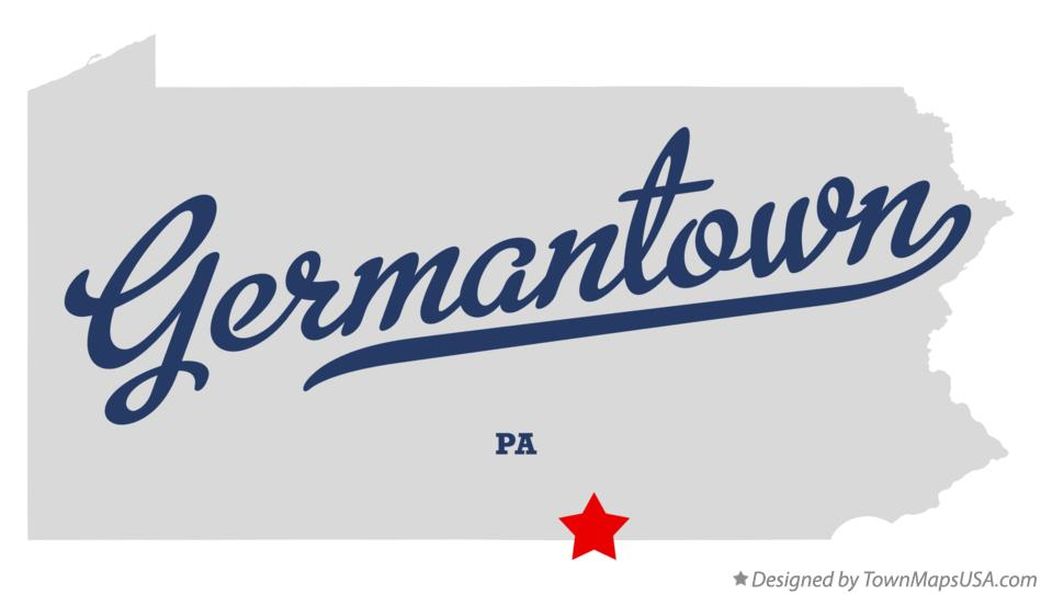 Map of Germantown Pennsylvania PA
