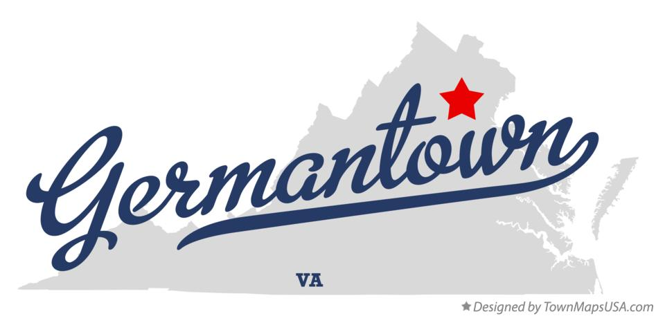 Map of Germantown Virginia VA