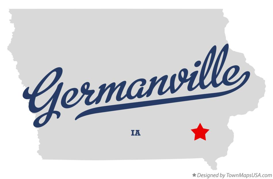 Map of Germanville Iowa IA