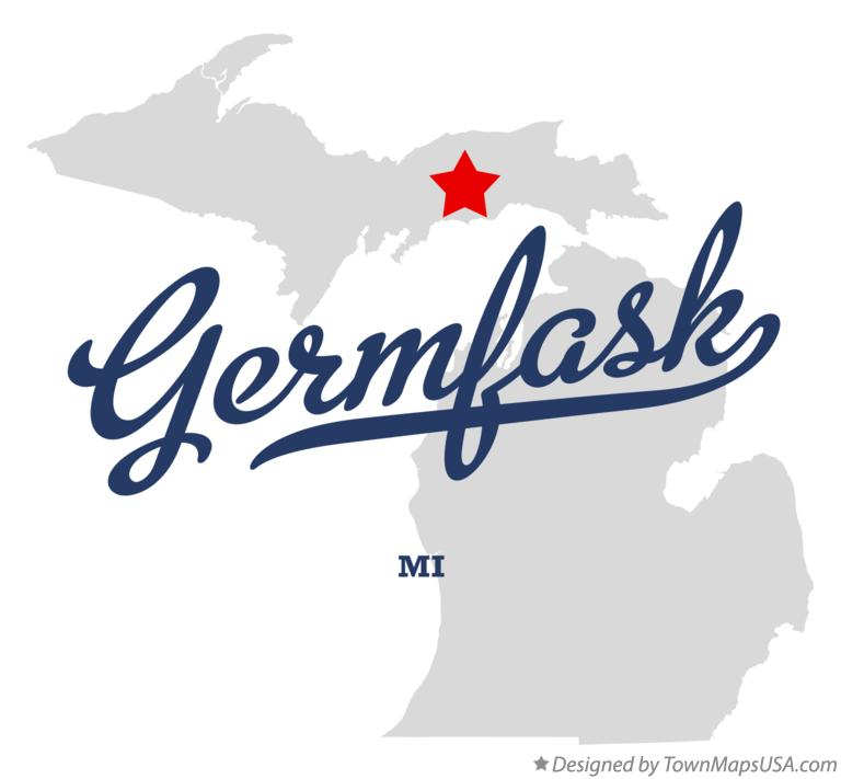 Map of Germfask Michigan MI