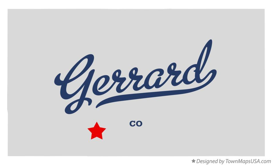 Map of Gerrard Colorado CO