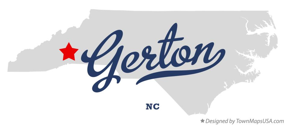 Map of Gerton North Carolina NC