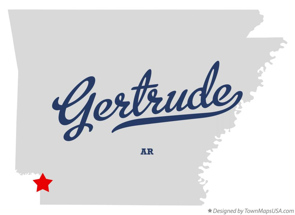 Map of Gertrude Arkansas AR