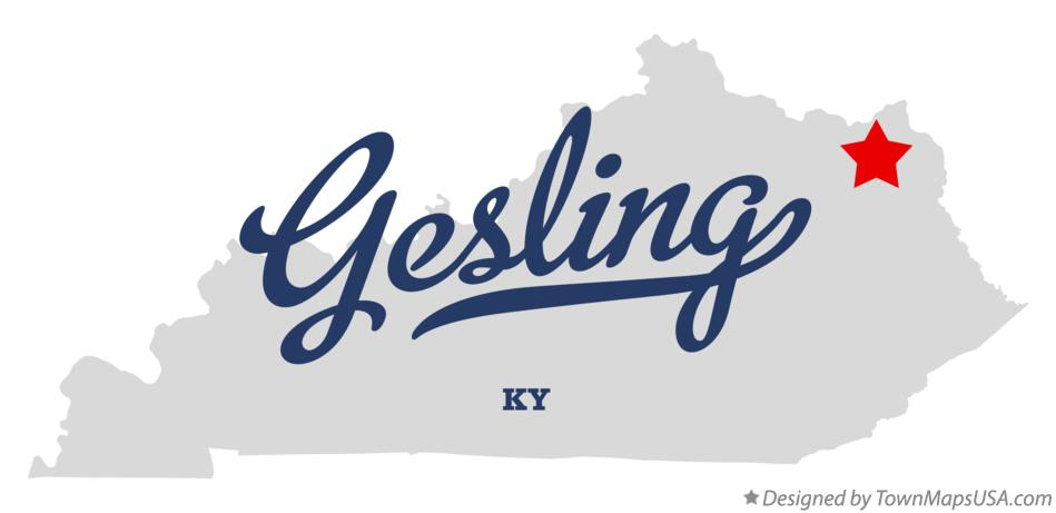 Map of Gesling Kentucky KY