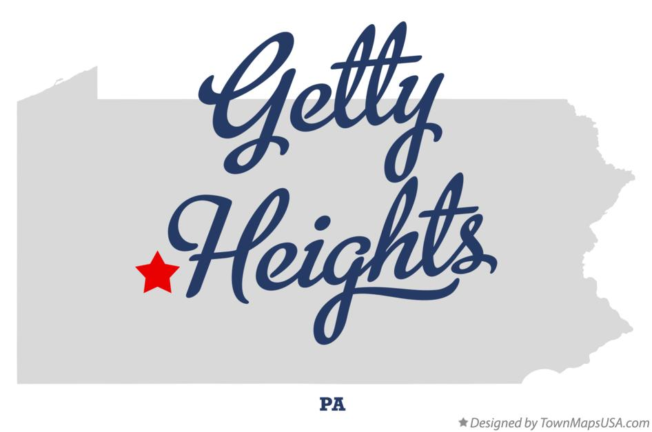 Map of Getty Heights Pennsylvania PA