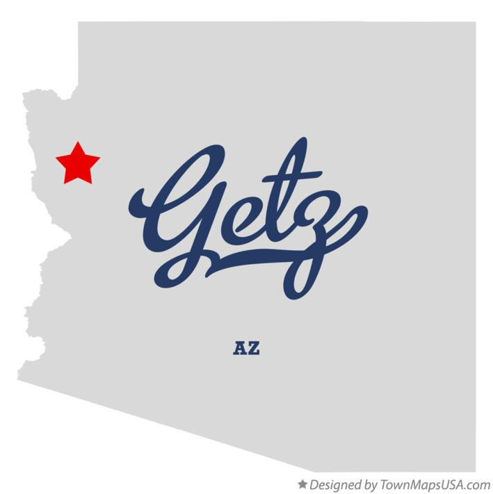 Map of Getz Arizona AZ