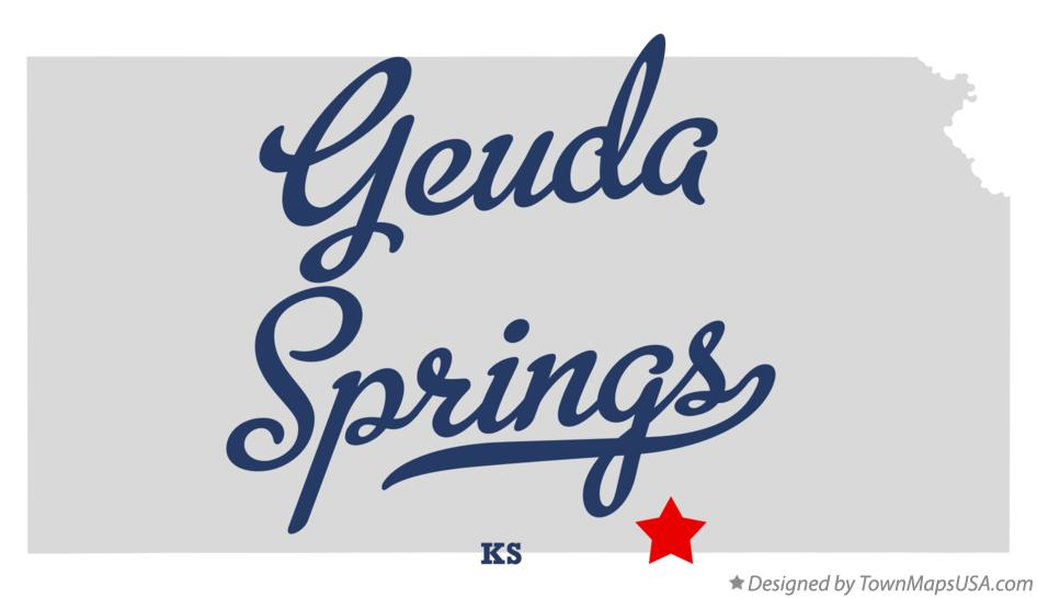 Map of Geuda Springs Kansas KS
