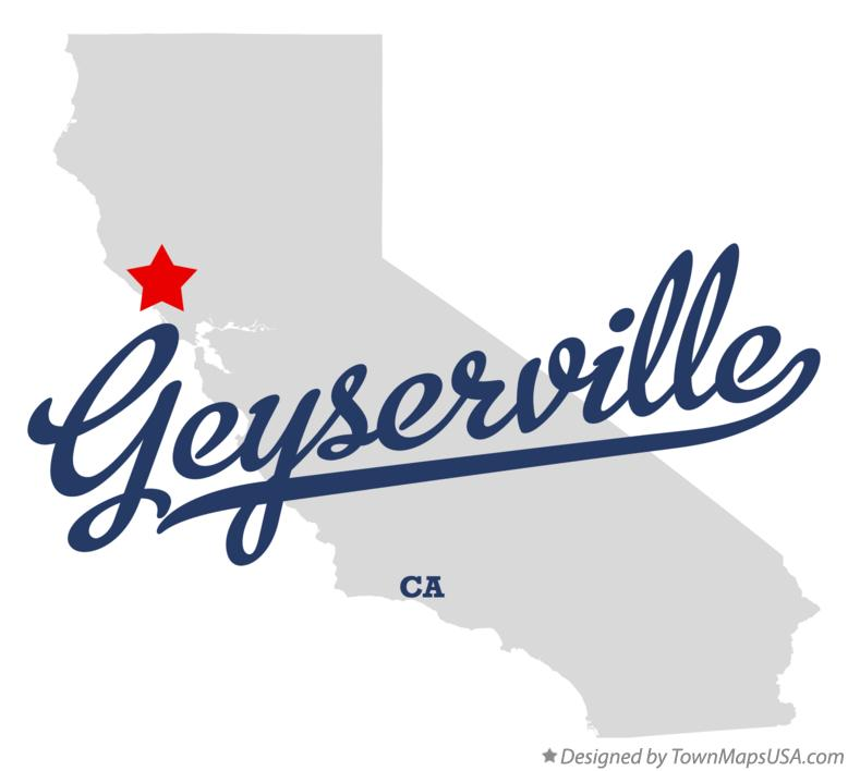 Map of Geyserville California CA