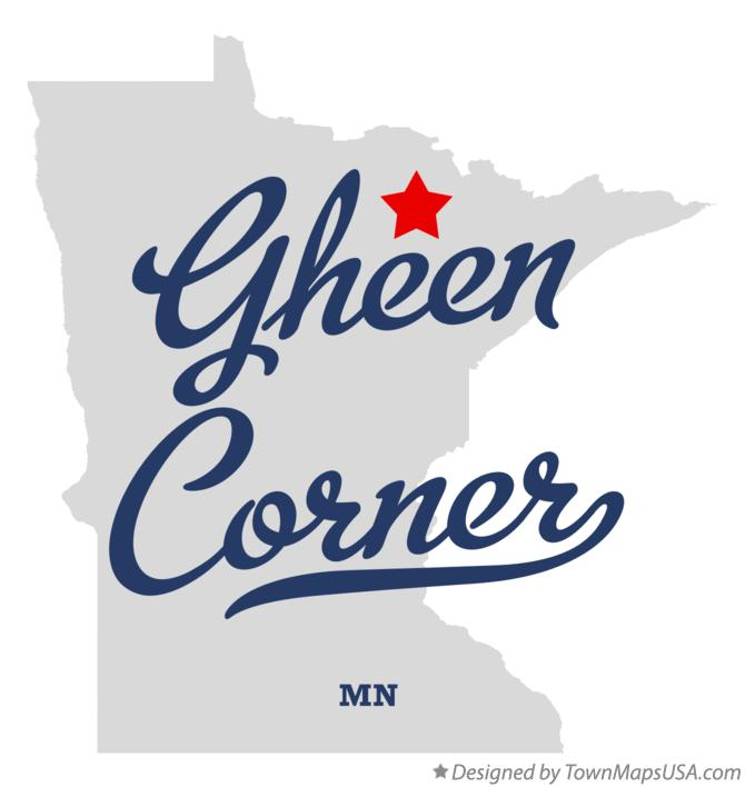 Map of Gheen Corner Minnesota MN
