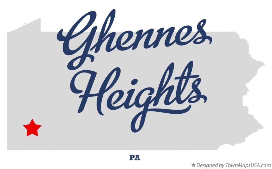 Map of Ghennes Heights Pennsylvania PA