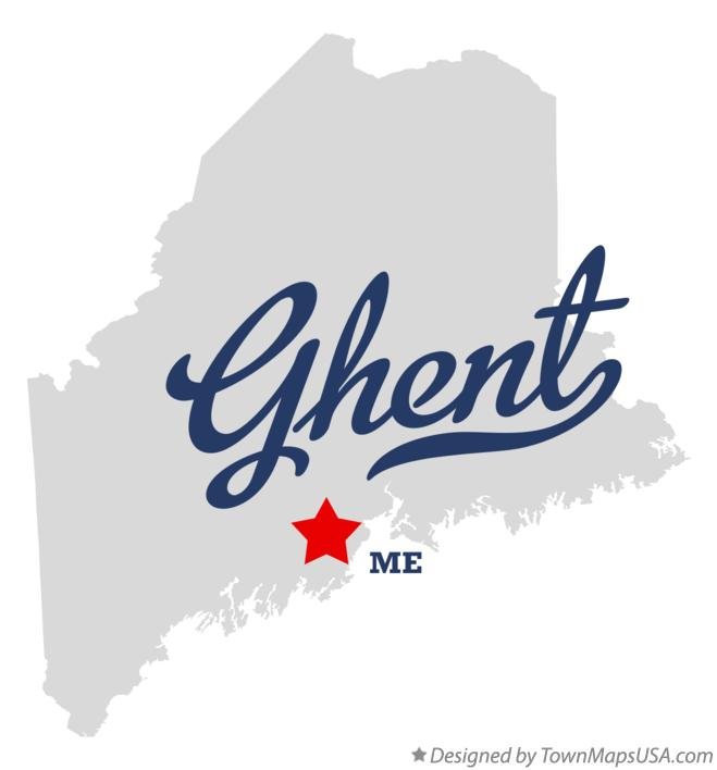 Map of Ghent Maine ME