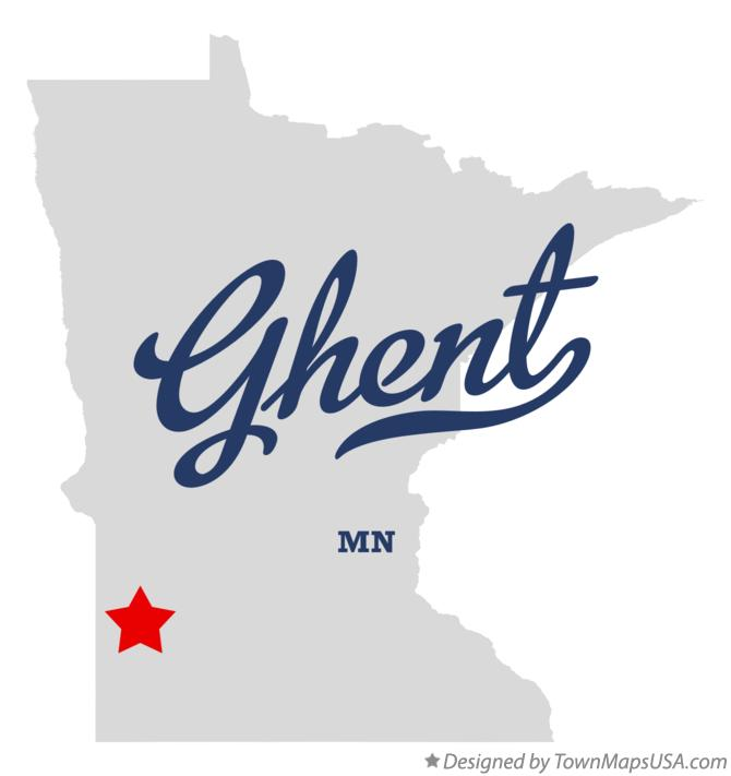 Map of Ghent Minnesota MN