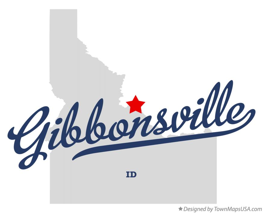 Map of Gibbonsville Idaho ID