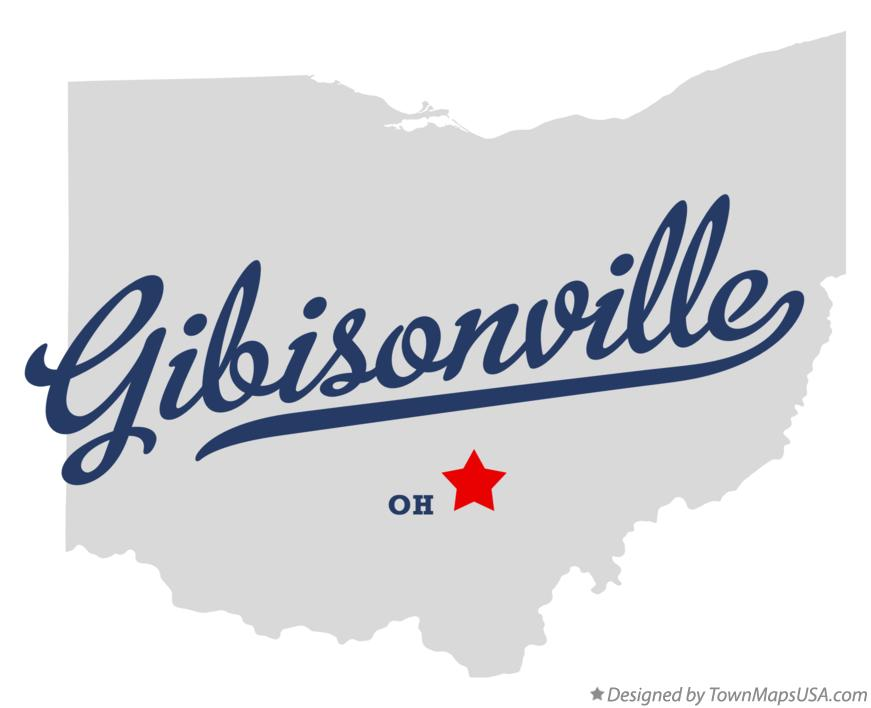 Map of Gibisonville Ohio OH