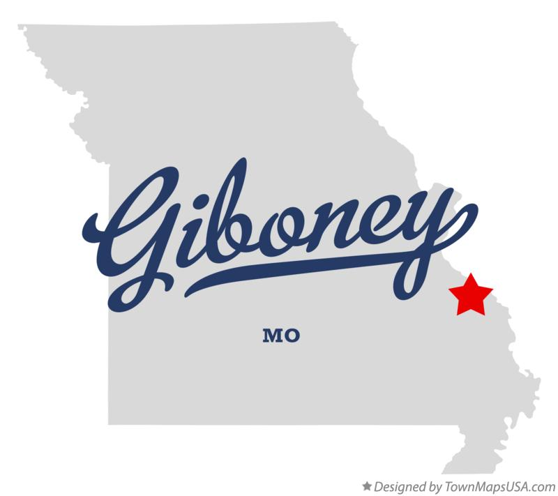 Map of Giboney Missouri MO