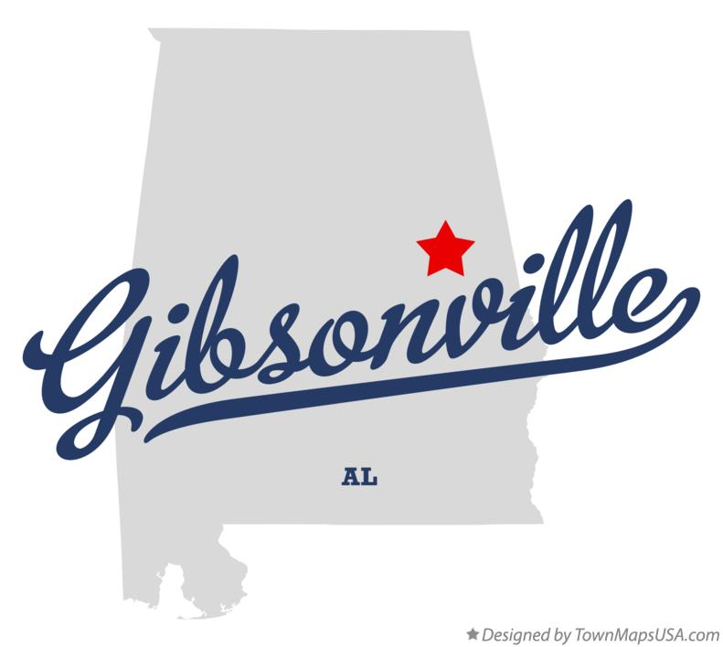 Map of Gibsonville Alabama AL