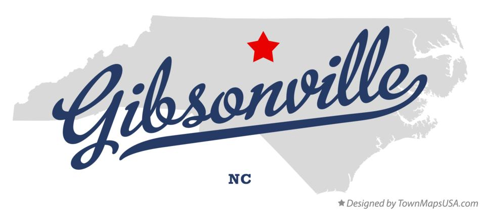 Map of Gibsonville North Carolina NC