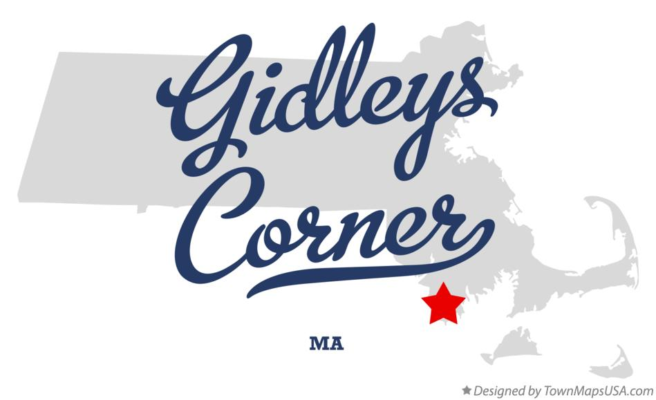 Map of Gidleys Corner Massachusetts MA
