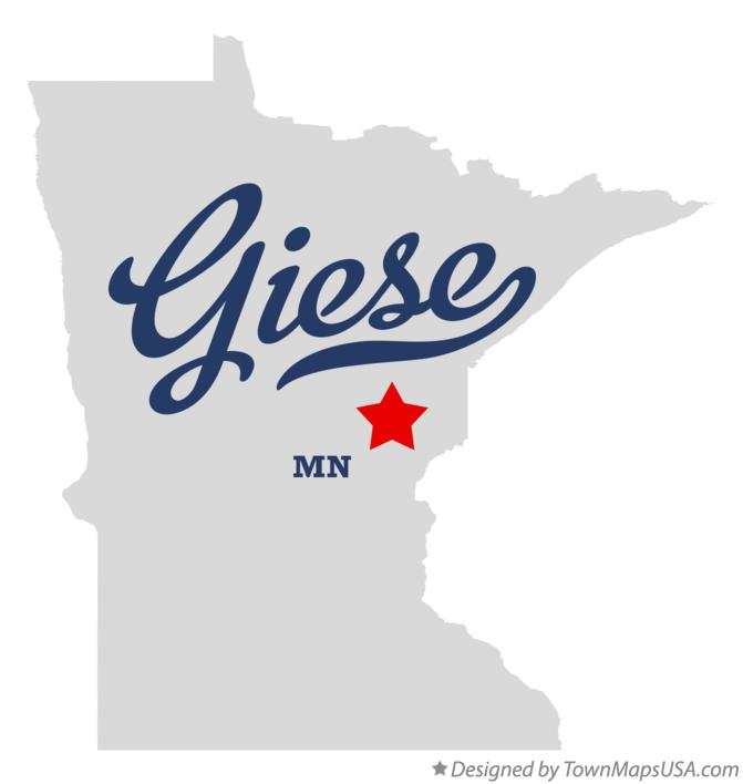 Map of Giese Minnesota MN