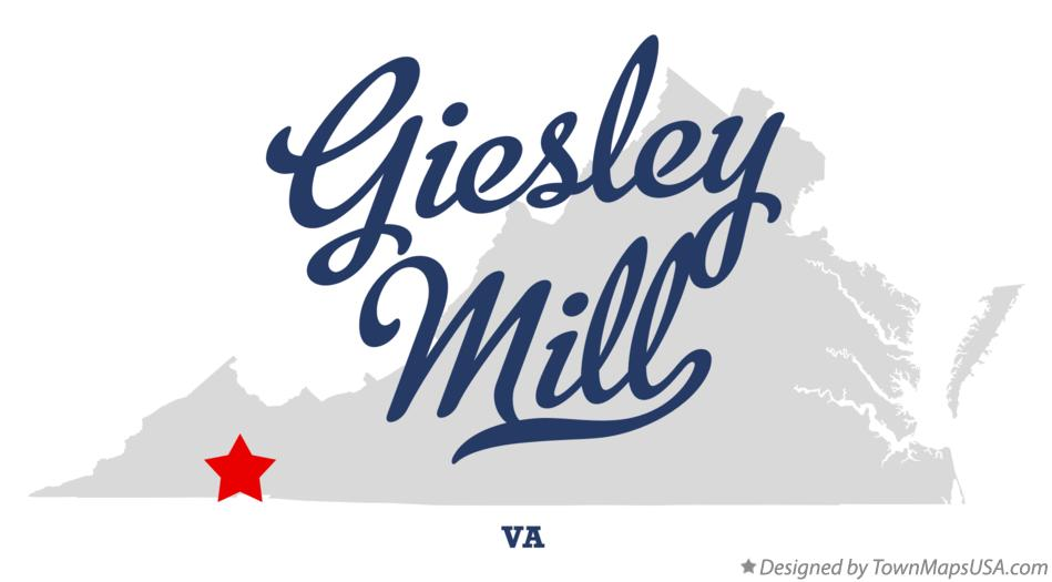Map of Giesley Mill Virginia VA