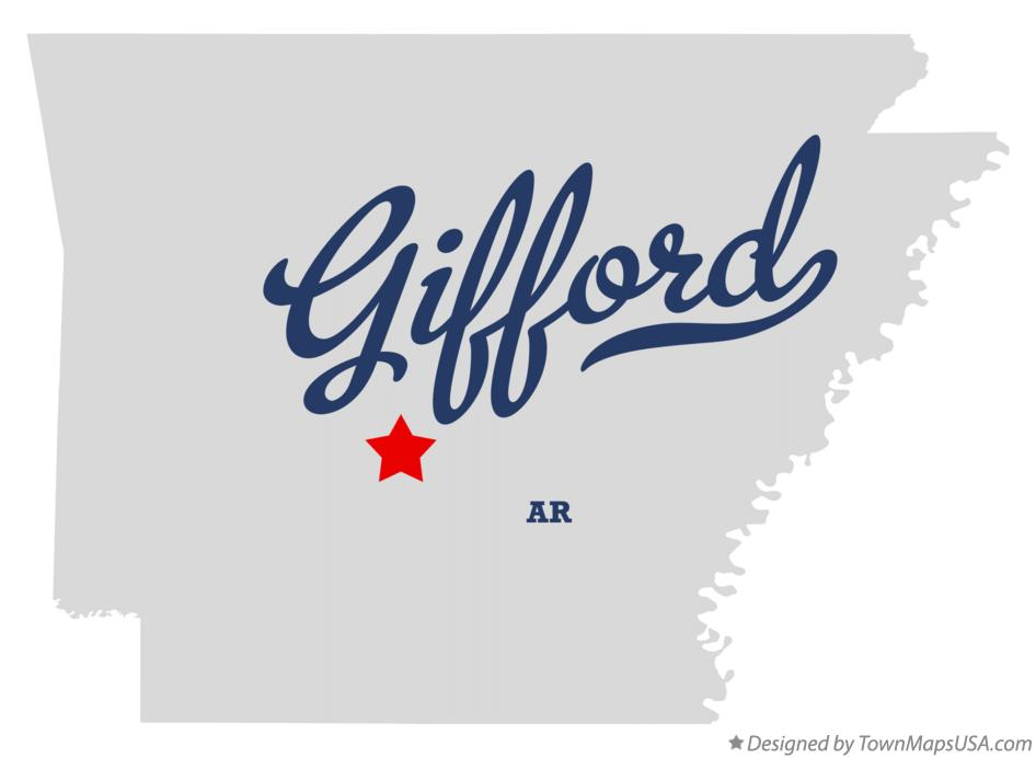 Map of Gifford Arkansas AR